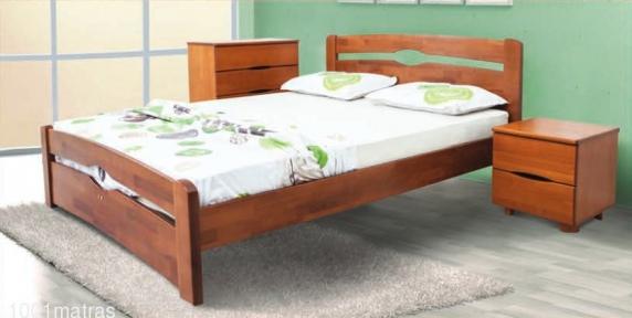Каролина деревянная кровать (с изножьем) Микс-Мебель