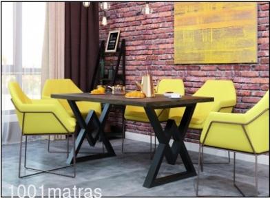 АСТОН-Обеденный стол в стиле LOFT (Металл-дизайн)